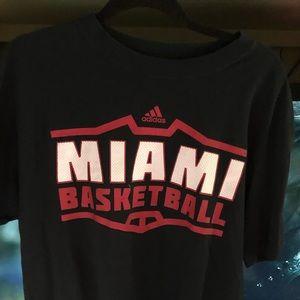adidas Shirts - Adidas Mens Miami's heat Basketball t-shirt
